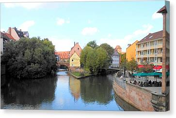 Canvas Print featuring the photograph Scenic Nuremberg by Kay Gilley