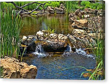 Canvas Print featuring the photograph Scenic Pond by Tim McCullough