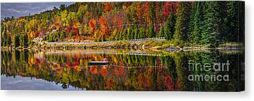 Scenic Road In Fall Forest Canvas Print by Elena Elisseeva