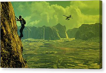 Scenic Route Canvas Print by Dieter Carlton