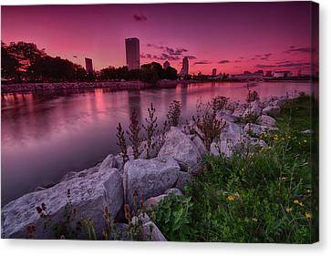 Scenic Sunset Canvas Print by Jonah  Anderson
