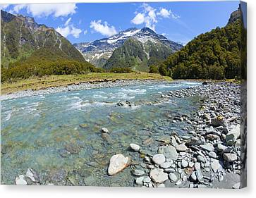 Scenic Valley In New Zealand Canvas Print by Alexey Stiop
