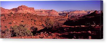 Scenic View Of Capitol Reef National Canvas Print