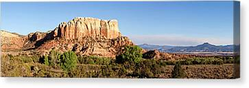 Scenic View Of Ghost Ranch, Abiquiu Canvas Print by Panoramic Images