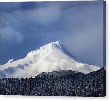 White River Scene Canvas Print - Scenic View Of Snowcapped Mountain, Mt by Panoramic Images