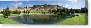 Scenic View Of Te Mata Peak From Craggy Canvas Print