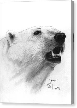 Scent In The Air Polar Bear Canvas Print by Bob Patterson