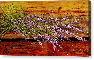 Canvas Print featuring the painting Scent Of Lavender... by Cristina Mihailescu