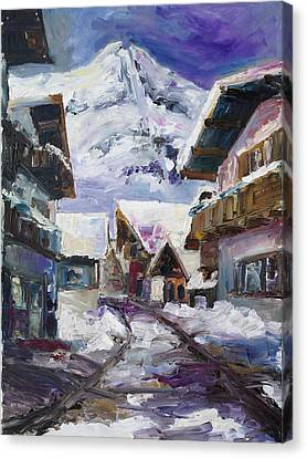 Schattberg Austrian Alps Canvas Print by Barbara Pommerenke