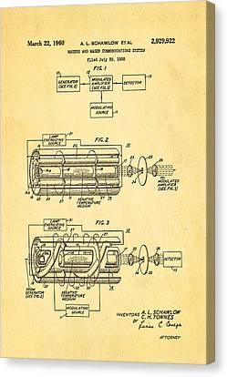 Schawlow Laser Patent Art 1960 Canvas Print by Ian Monk