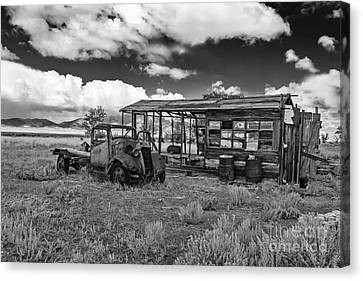 Schellbourne Station And Old Truck Canvas Print