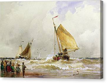 Schevenegen Beach Canvas Print by Thomas Hardy