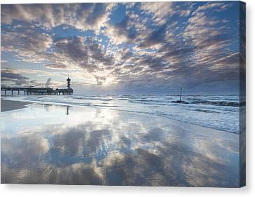 Scheveningen Sunset Canvas Print by Ron Buist