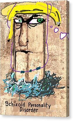Schizoid Personality Disorder Canvas Print by Joe Jake Pratt