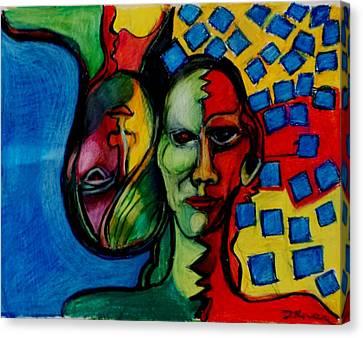 Schizophrenia 1 Canvas Print by Charlotte Driver