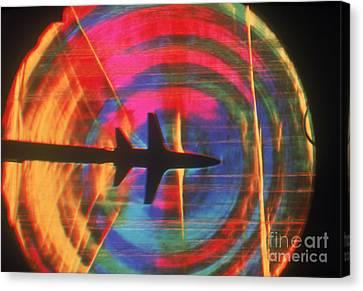 Schlieren Image Of Aircraft Canvas Print by Garry Settles