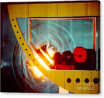 Schlieren Image Of Explosion 3 Of 6 Canvas Print by Gary S. Settles