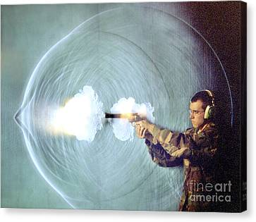 Schlieren Canvas Print - Schlieren Photo Of Gun Firing by Gary S. Settles