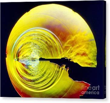 Schlieren Photo Of Muzzle Blast Canvas Print by Gary S. Settles