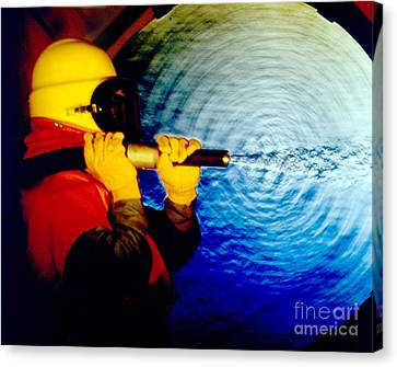 Schlieren Canvas Print - Schlieren Photo Of Sandblasting by Gary S. Settles