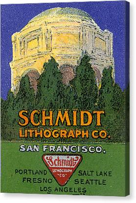 Schmidt Lithograph  Canvas Print by Cathy Anderson