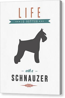 Schnauzer 01 Canvas Print by Aged Pixel