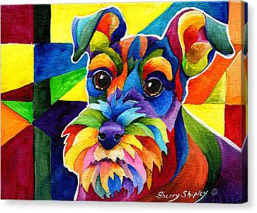 Schnauzer Canvas Print by Sherry Shipley
