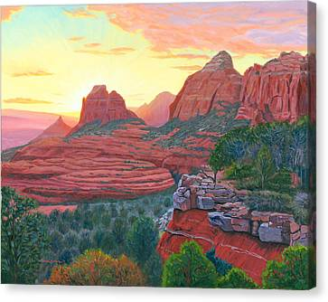 Schnebly Hill Sunset Canvas Print by Steve Simon