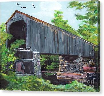 Schofield Covered Bridge Canvas Print by Lucia Grilletto