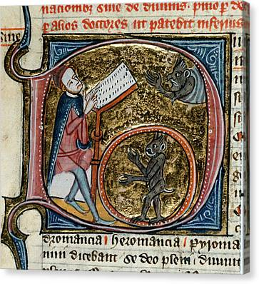 Scholar With Devils Canvas Print by British Library