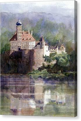 Schonbuhel Castle In Austria Canvas Print by Janet King