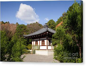 School Building Ryoan-ji Temple Kyoto Canvas Print by Colin and Linda McKie