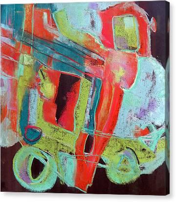 School Bus Canvas Print - School Bus by Katie Black