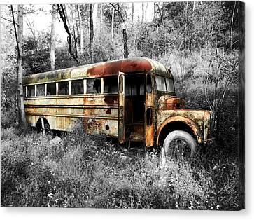 School Bus Canvas Print by Steven Michael
