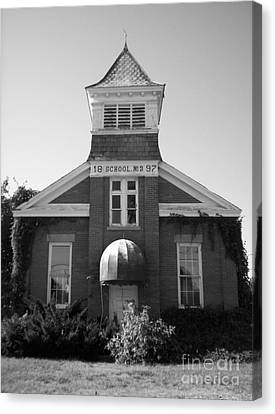 Canvas Print featuring the photograph School House by Michael Krek