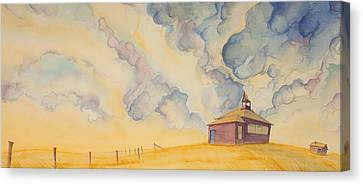 School On The Hill Canvas Print by Scott Kirby