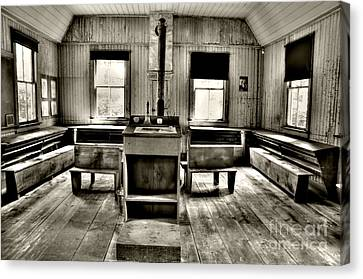 School Room Canvas Print by Kathleen Struckle