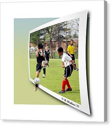 School Soccer Canvas Print