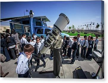 School Sun Observation Program Canvas Print by Babak Tafreshi
