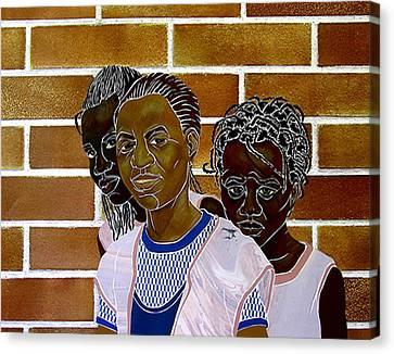Schoolgirls Canvas Print by Martha Rucker