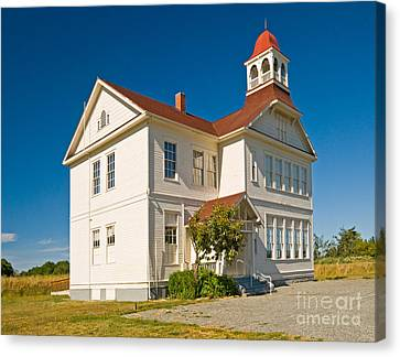 Schoolhouse Canvas Print by Richard and Ellen Thane