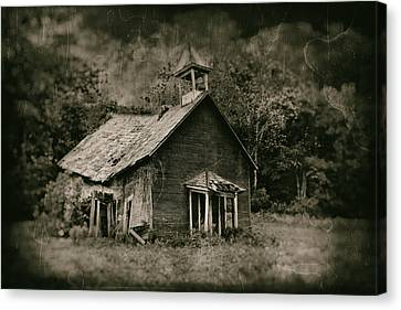 Old School Houses Canvas Print - School's Out by Tom Mc Nemar
