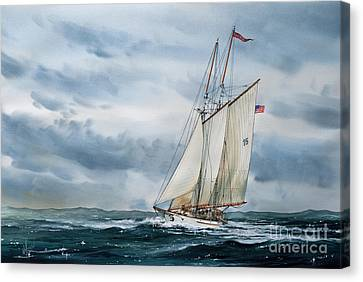 Tall Ship Canvas Print - Schooner Adventuress by James Williamson