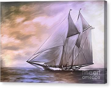 Schooner..... Canvas Print by Andrzej Szczerski