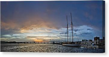 Schooner Germania Nova Sunset Canvas Print by Dustin K Ryan