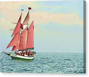 Schooner Jolly Rover Key West Canvas Print by Joan  Minchak
