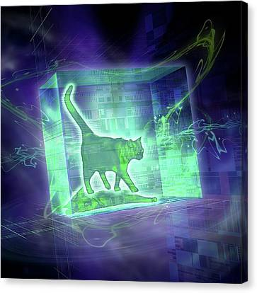 Schrodinger's Cat Canvas Print by Harald Ritsch