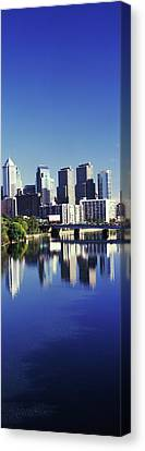 Schuylkill River With Skyscrapers Canvas Print