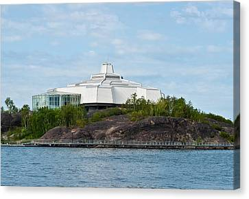 Canvas Print featuring the photograph science center North in Sudbury Ontario Canada by Marek Poplawski
