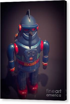 Science Fiction Vintage Robot Toy Canvas Print by Edward Fielding